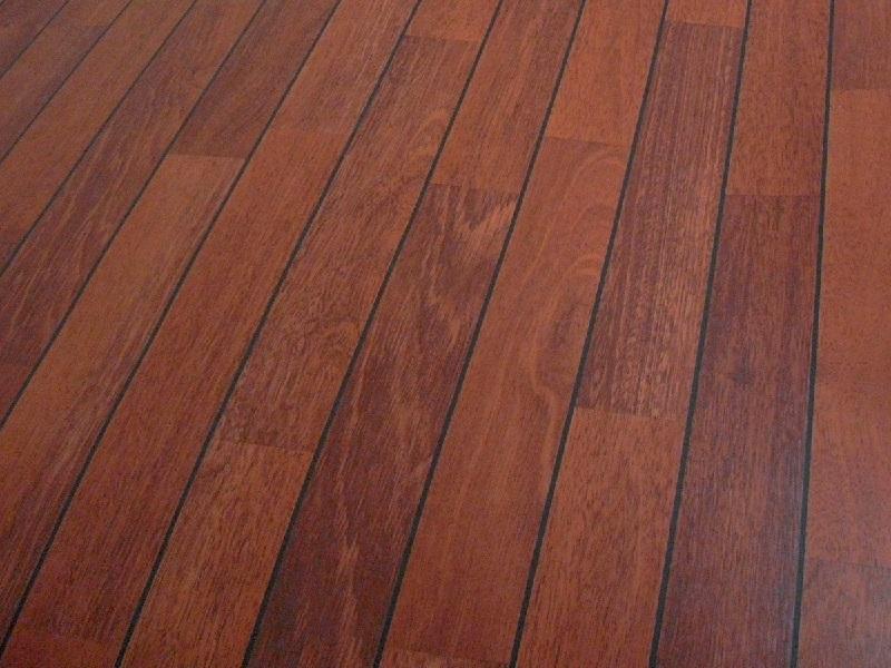 PVC-Belag indoor, 3400 Mahagoni strip, Breite 200 cm