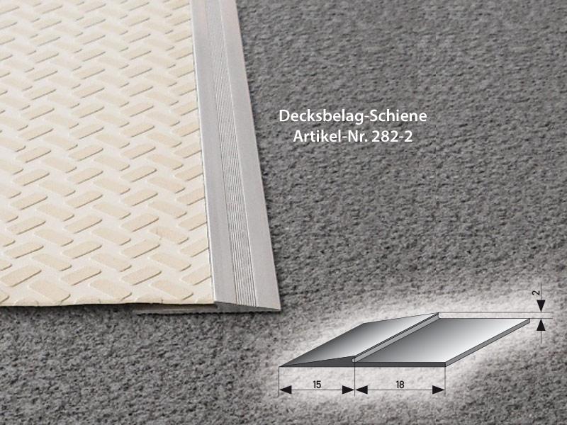 Decksbelag-Schiene 282-2 aluminium rails Aluminum rails ALU Schiene 282 2