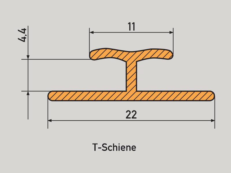 PVC Schiene - T-Profil pvc schienen PVC rails PVC Schienen Profil T Schiene
