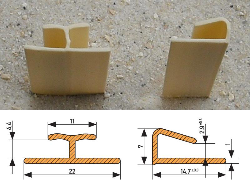 PVC Schienen - T-Profil und Einfass-Schiene