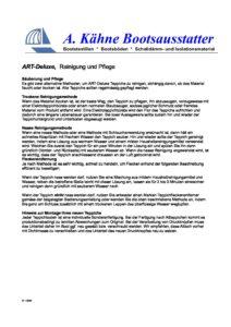 ART-Deluxe – Reinigung und Pflege ART Deluxe Reinigung und Pflege pdf 212x300