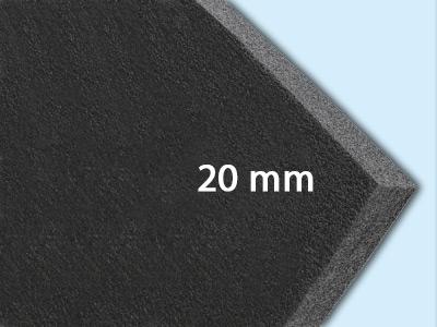 20 mm (1,0 x 2,0 m = 2,0 m²)