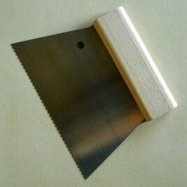 metal notched spatula Metal notched spatula zubehoer metallspachtel 268x268