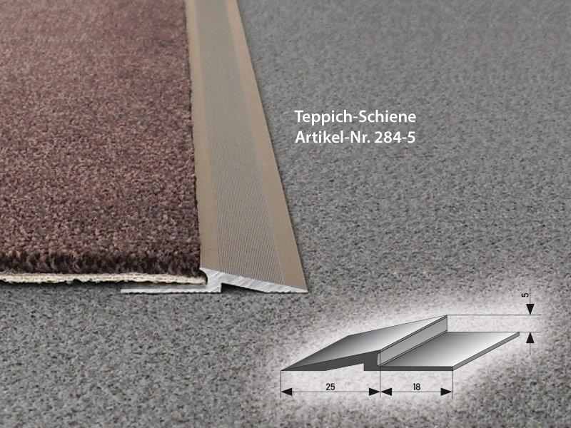Antrittskanten-Schienen aus Aluminium - Teppich-Schiene teppich-schiene ALU carpet rails ALU Schiene 284 5