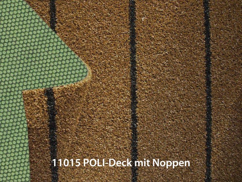 Bootsteppich Kunstrasen Decksbelag POLI-DECK mit Noppen kunstrasen POLI-DECK artificial grass (with knobs) poli deck profi 11015 rs noppen beschriftet