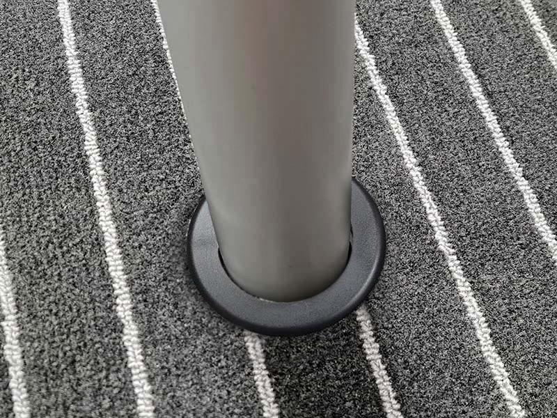 PVC-Ring schwarz abdeckrosette Abdeckrosette / Teppichring teppichring 07 pvc
