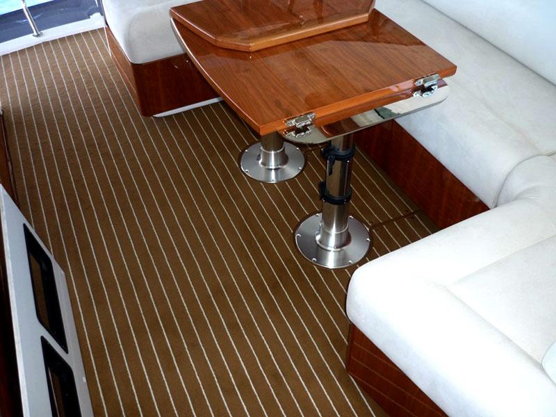 Bootsteppich Bodenbelag Boot ART-Deluxe art-deluxe Art-Deluxe Boat carpet art deluxe anwendung 9 teak creme